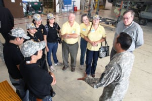Georgetown, Philippines Rotary Club visit Air Cav