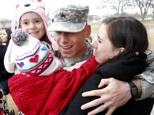 Troops home for the holidays