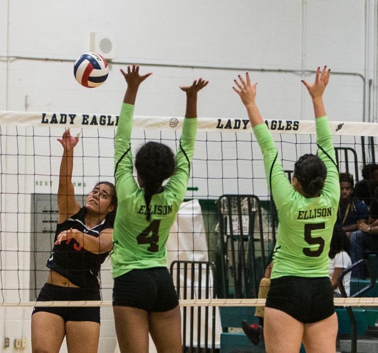 VOLLEYBALL: Lady Knights block Ellison in 5 sets