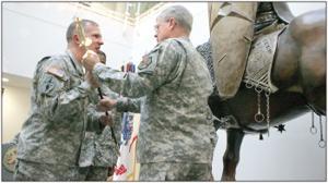 Command Sgt. Maj. Felt says farewell to post