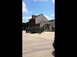 Fort Hood riot control training