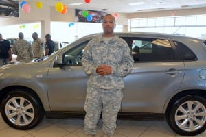 Soldier surprised when visit to Automax results in a free car