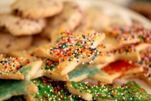<p>Fresh-baked cookies make a sweet holiday gift or the right thing for a potluck dinner.</p>
