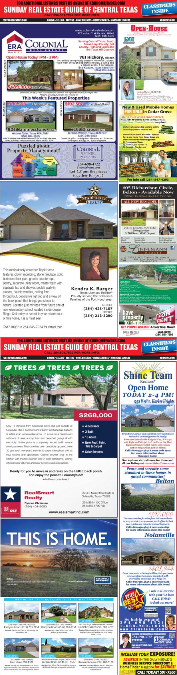 Sunday Real Estate Guide 9/18/16 SREG