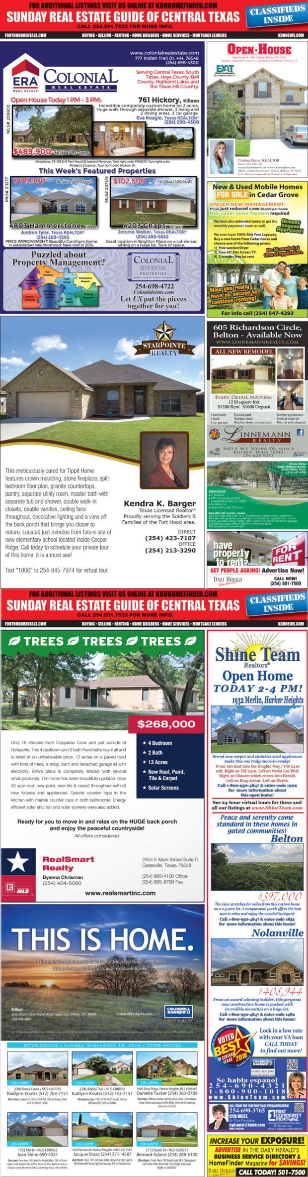Sunday Real Estate Guide 9/18/16 SREG