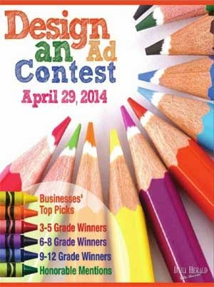 The 2014 Design an Ad contest publication. Ads created by local children.