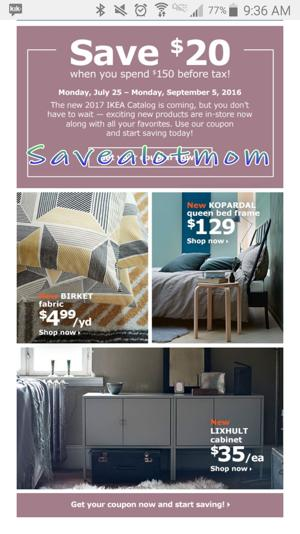 IKEA Offers! $20 off Coupon!!!