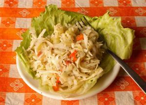German cabbage salad