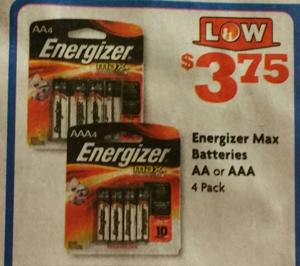 Energizer Batteries at Family Dollar!