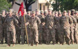 8th Engineer Battalion Colors Casing