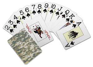 Camo playing cards: $5
