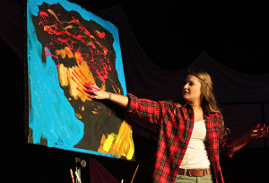 Miss MHB Pageant: A painted-while-you-watch original, complete with graphic blood detailing brought the audience to its feet. - Steve Pettit | Herald