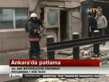 Suicide bomber kills guard at US Embassy in Turkey