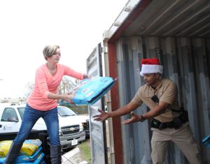 KPD officer donates truckload of food to city animal shelter