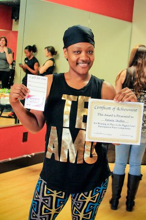 Biggest Loser (6): Tatiana Dudley won first place for participation points in the Biggest Loser competition at Heritage Park Fitness on March 10th. - Jodi Perry/HERALD