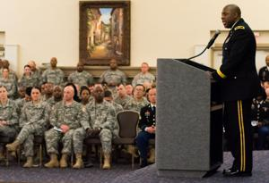 Brig. Gen. Michael Dillard speaks