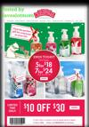 Bath & Body Works $10 off $30 Purchase and Special Offers!