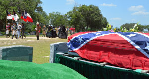 Confederate burial