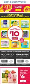 Bath & Body Works Semi Annual Sale and $10 & $20 off Coupons for you!!