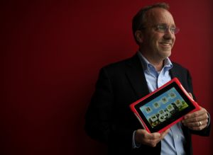 Companies hope families connect with giant tablets