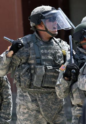 6-9 Cav holds riot control training