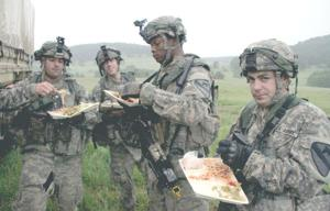 Hot chow, cold grunts; a recipe for morale