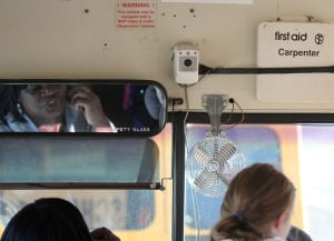 Bus camera surveillance