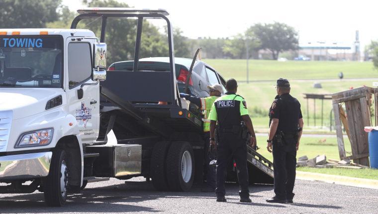 Car Hits Utility Building at Long Branch Park