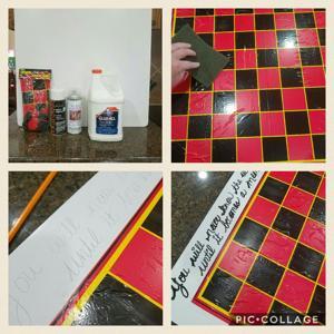 Turn a basic checker board into a keepsake