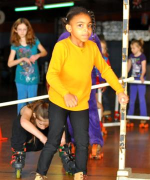 Girl Scouts skating party