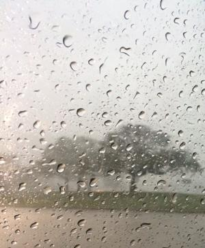 Rain during the hailstorm