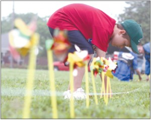 Pinwheels to honor crime victims