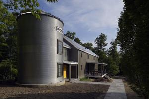Family enjoys life in a silo house