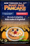 FREE Pancakes from IHop for Halloween!