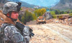On patrol in Afghanistan