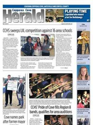 The Copperas Cove Herald newspaper. All of your local news for Copperas Cove, Lampasas, Gatesville and Kempner.