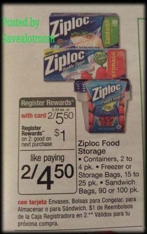 Ziploc Bags or Containers Offer at Walgreens
