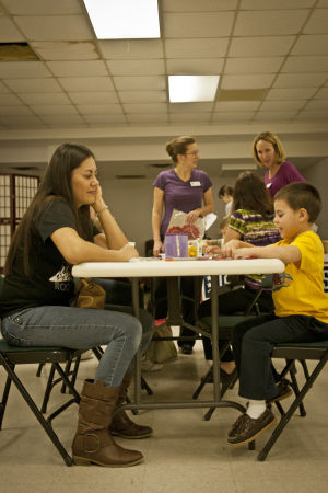 USO crafts time for 1st Cavalry kids on Fort Hood