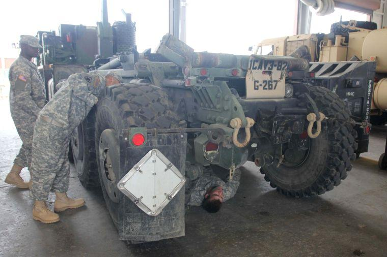 2nd Brigade Combat Team Vehicle Inspections
