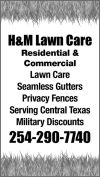 H&M Lawn Care | 254-290-7740 | Killeen