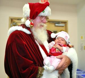 Santa at Cove library