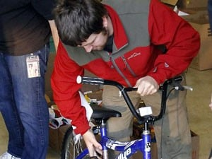 Lions Club, fire department give away bikes, food, toys