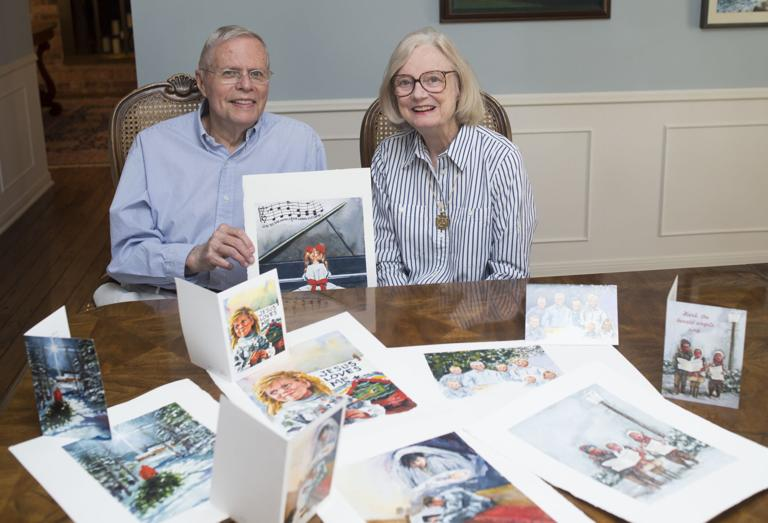 Family tradition: Couple creates original Christmas cards
