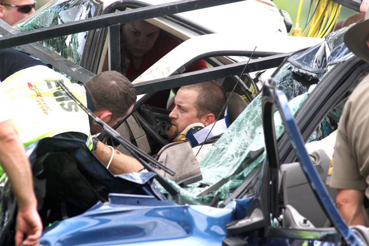 Two car collision on Farm-to-Market 439