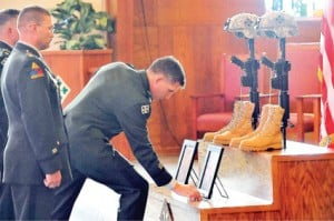 Pair remembered for service