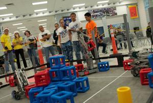 Shoemaker High hosts robotics competition