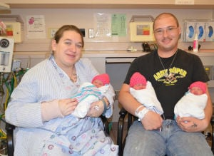 Fort Hood couple has triplets at Darnall
