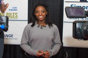 U.S. Olympic Gold Medalist Simone Biles at Book Signing PX