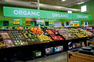 <p>HEB in Harker Heights carries organic fruits and vegetables as seen on Saturday, July 19th.</p>