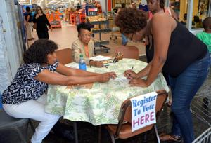 Locals register to vote at area Wal-Mart